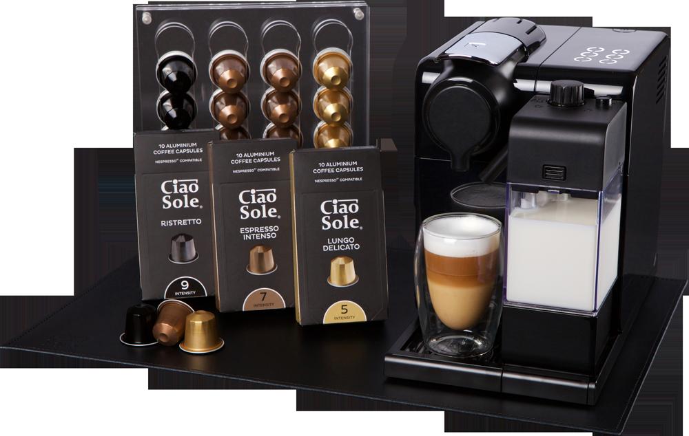 Stilingas kavos aparatas ir priedai NEMOKAMAI